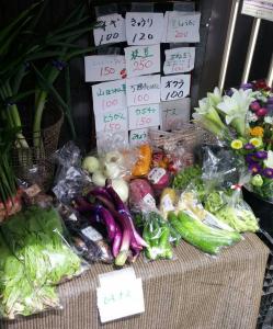 無人野菜販売所|昭島  龍田寺近く│ヤクルトレディお勧め