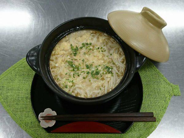 ヤクルト麺で『中めんのえのき玉子汁 』作ってみた!