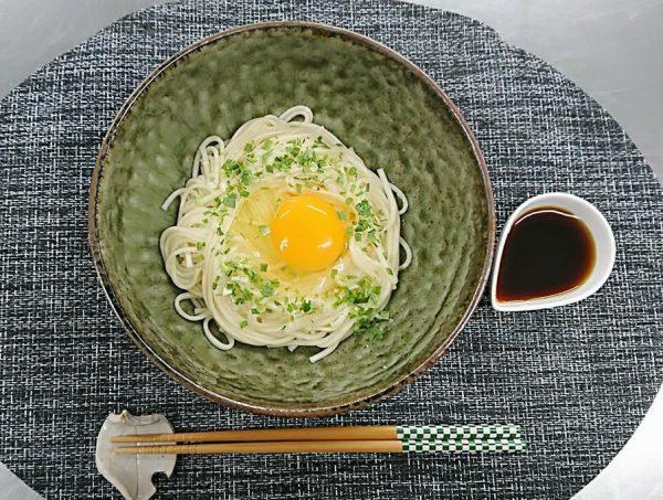 ヤクルト麺で『釜玉中めん』作ってみた!