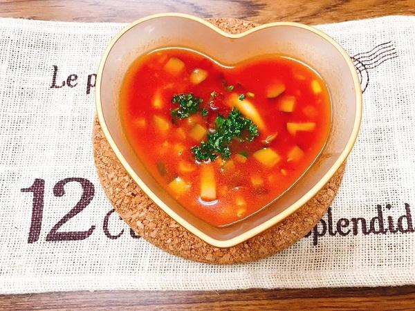 ヤクルト野菜ジュースで作るガスパチョ|簡単レシピ