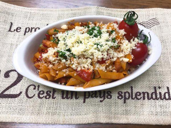 ヤクルト野菜ジュースで作る簡単アラビアータ