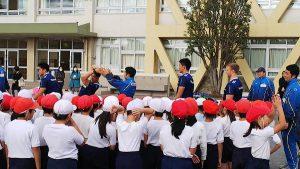 ヤクルトの出前授業|タグラグビー教室に行ってきました。