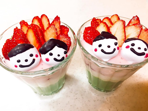 親子でひな祭りデザート作り|ひな祭りの3色ババロアを作ってみよう